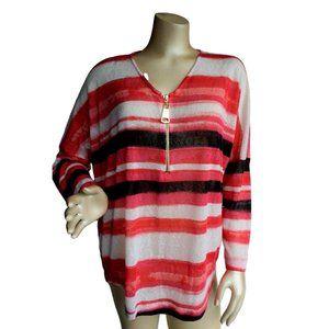 Striped Lightweight Dolman Shirt Top